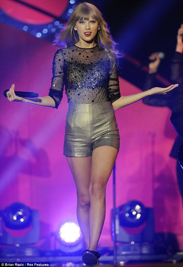 Taylor Swift performs at the BBC Radio 1 Teen Awards.