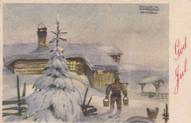 Julekort Trygve Davidsen utg Oppi