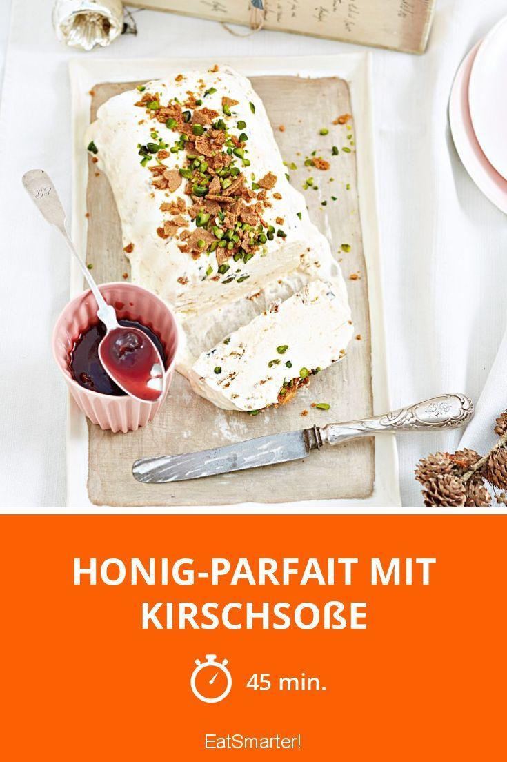 Honig-Parfait mit Kirschsoße | http://eatsmarter.de/rezepte/honig-parfait-mit-kirschsosse
