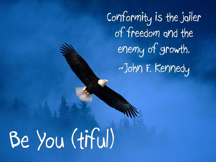 an analysis of conformity is jailer of freedom and the enemy of growth by john f kennedy Quotation by john f kennedy: conformity is the jailer of freedom and the enemy of growth.