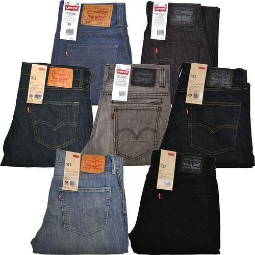Levis 511 Jeans Skinny Slim Fit Mens Jean Dark Light Medium 29 30 31 32 33 34 36