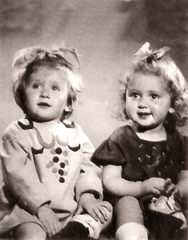 Kati Frenkel (right) Kati was sadly murdered in Auschwitz-Birenkau in 1945 at age 5. She lived in Zimboru, Romania.