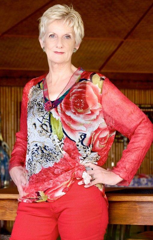 Berck - Chiffon Top. Full sleeve, bright,colourful print, fits all body shapes. $105.00  #chiffon #top #fashion