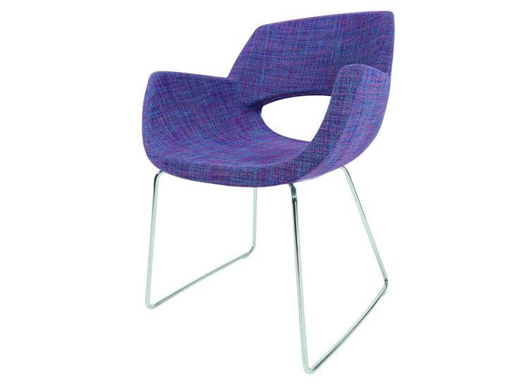 Wössner Die Essplatz Marke Colore 203/3 Schalenstuhl 203.3 Esszimmerstuhl offener Sitzschale Stuhl mit Metall Bügel Gestell Bezug wählbar