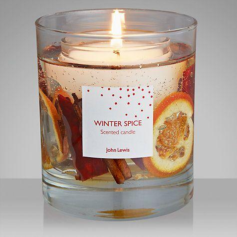 Buy John Lewis Winter Spice Gel Candle, Medium Online at johnlewis.com