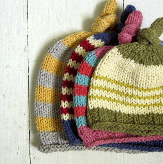 baby hat knitting pattern, PDF, knotted baby hat, newborn knitted hat pattern,