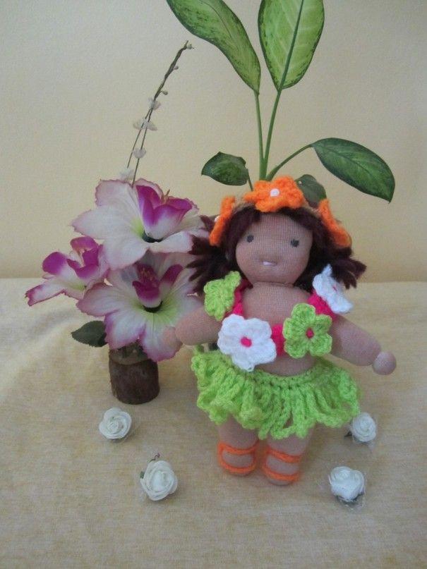 """Ручная одежда Гавайский костюм для кукла  Waldorf 9"""""""