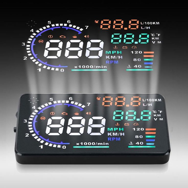 "Universal 5.5"" Car HUD Auto Head Up Display LCD Digital Projector Vehicle OBD II Interface A8 HUD Overspeed Alarm System"