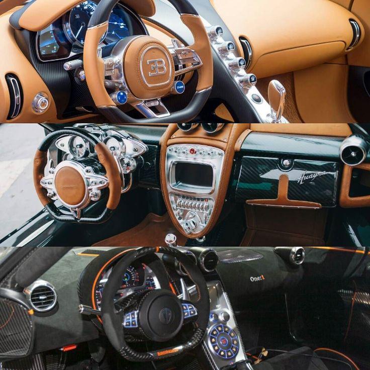 Fabulous cars interior.  #bugatti #bugattichiron #chiron #pagani #paganihuayra #huayra #koenigsegg #koenigseggone #koenigseggone1 #one1 by car_passion_fr