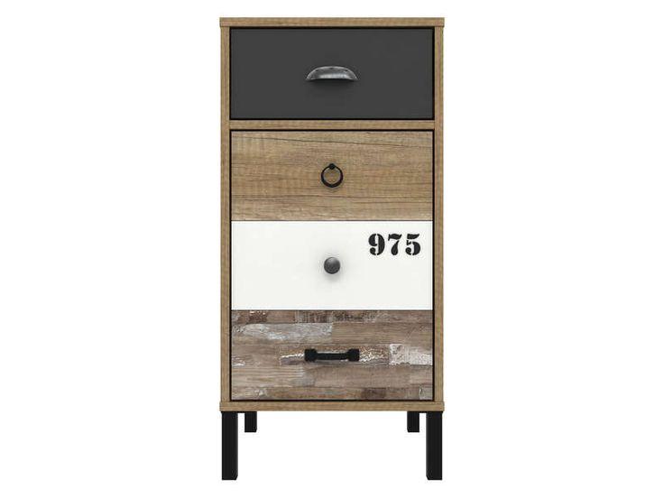 Rangement 1 porte+1 tiroir OLDY - Vente de Buffet, bahut, vaisselier - Conforama