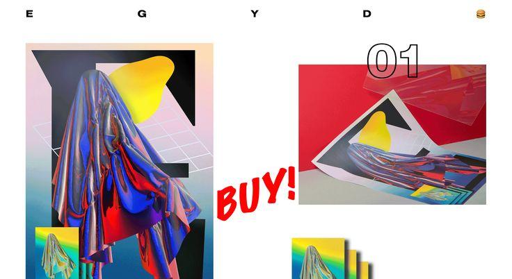 EGYD POSTER SERIES #poster #egyd #egyd.studio #experimental #print #egydegydegyd #3d #c4d #playful #limited