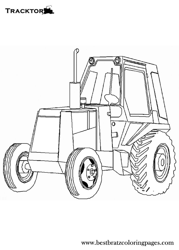 Free Printable Tractor Coloring Pages For Kids Gambar Mobil