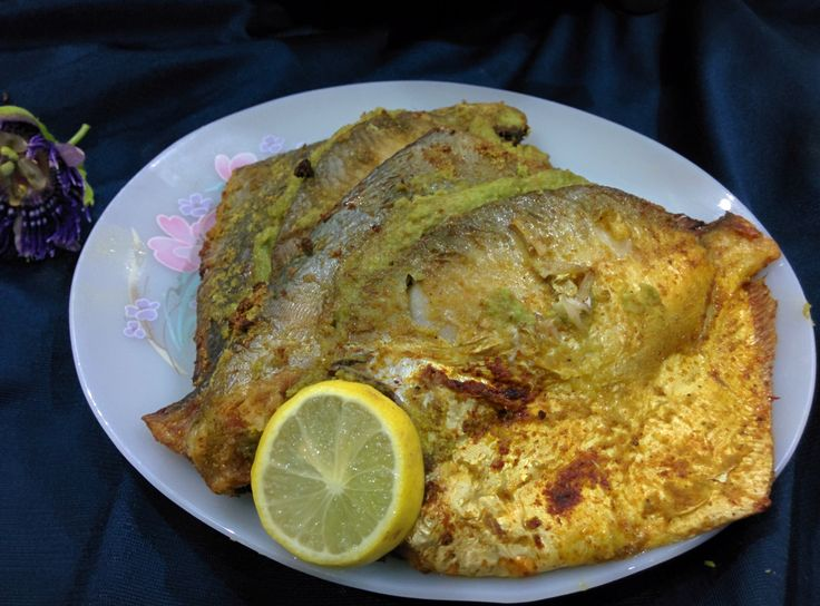 Stuffed pomfret with green masala air fryer recipe for Airfryer battered fish