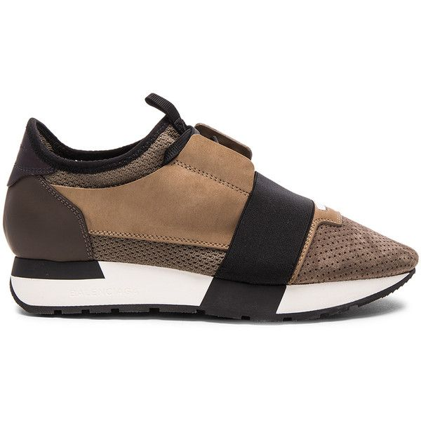 Balenciaga Suede Runner Sneakers ($645) ❤ liked on Polyvore featuring shoes, sneakers, perforated shoes, suede sneakers, rubber sole shoes, suede shoes and balenciaga trainers