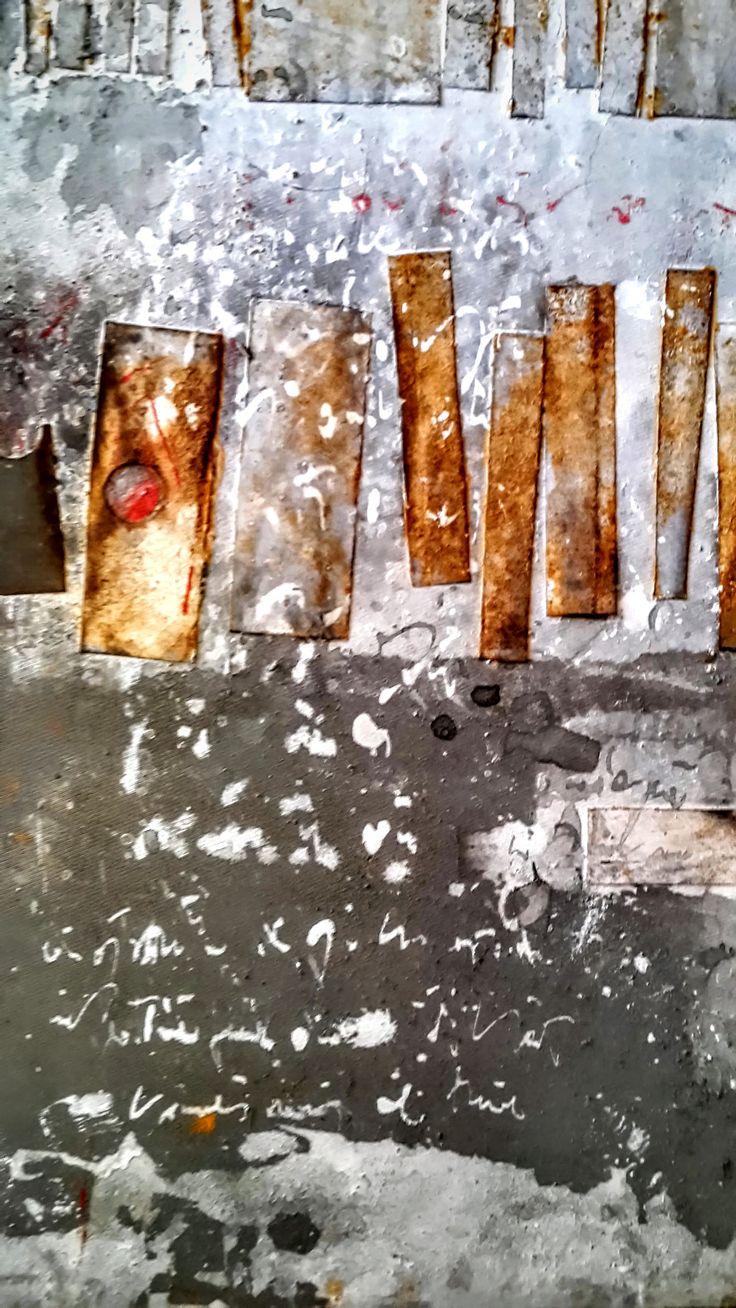 Peinture de Mehdi Bourkia, empreintes