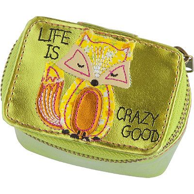 Natural Life Lime Fox Metallic Mini Jewelry Case #forthenaturalista #giftguide #ultabeauty