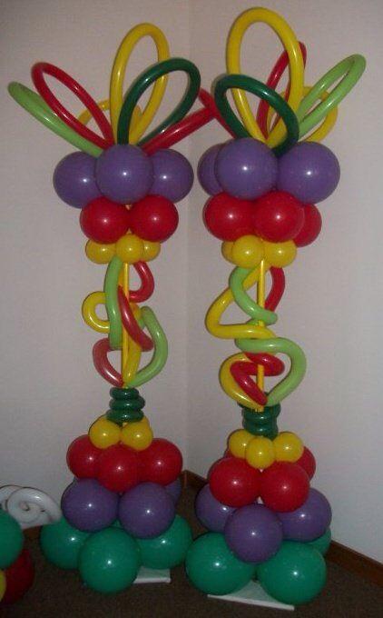 731 best balloon columns pillars decoration images on for Balloon decoration color combinations