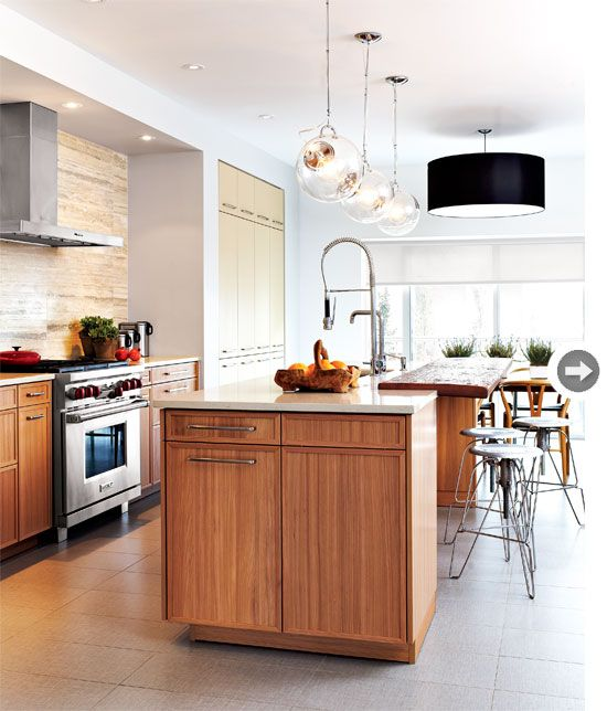 Kitchens Spaces, Dreams Kitchens, Kitchens Ideas, Interiors Design, Kitchens Lights, Open Kitchens, Modern Kitchens, Style At Home, Modern Townhomes