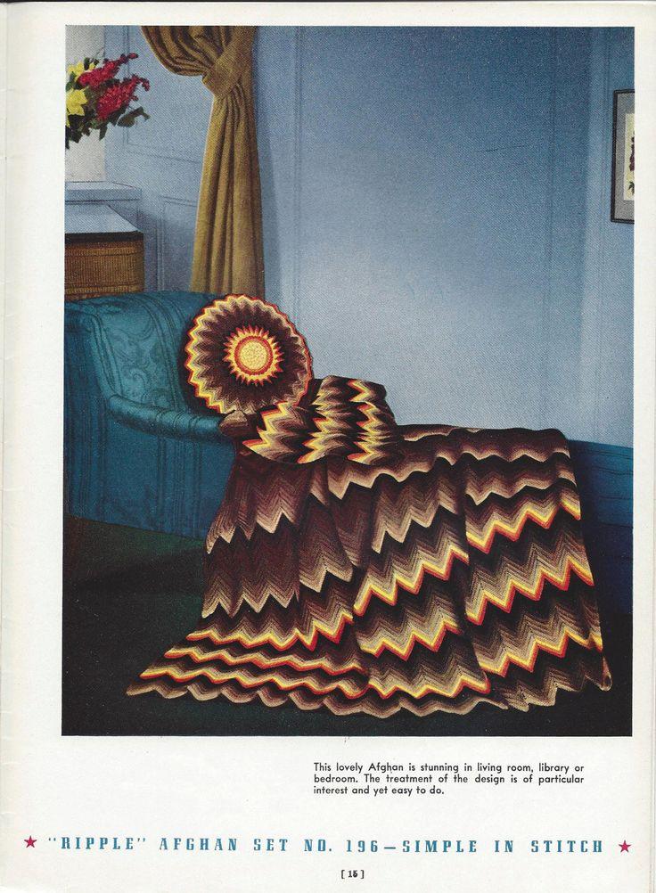 🎯 Afegão e Almofada em Crochê Padrão itens decorativos Criações -  /  🎯 Afghan and Cushion  Crochet Hooks Pattern Knacks Creations -