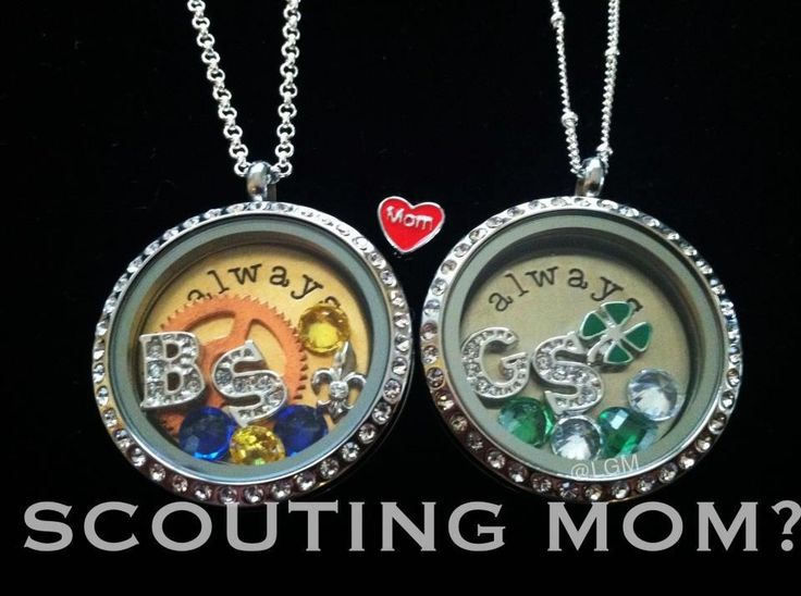 Cute gift idea for the scout mom you know and love. Girl Scouts Boy Scouts  by Origami Owl
