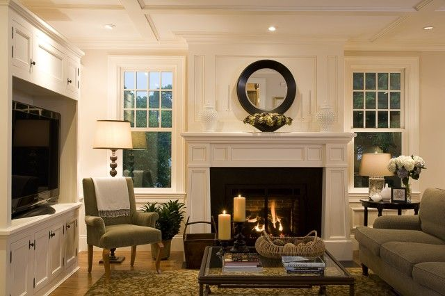 fireplace, mantle, built-in/entertainment center