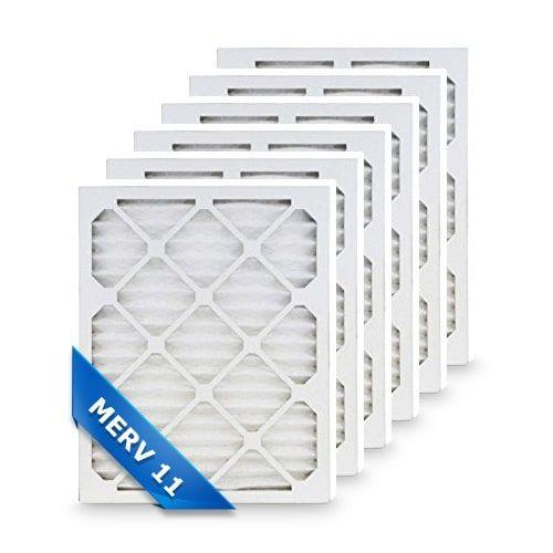 Replacement Air Filter for Honeywell 16 x 25 x 4 Merv 11 (6-Pack) Replacement Air Filter, Grey smoke