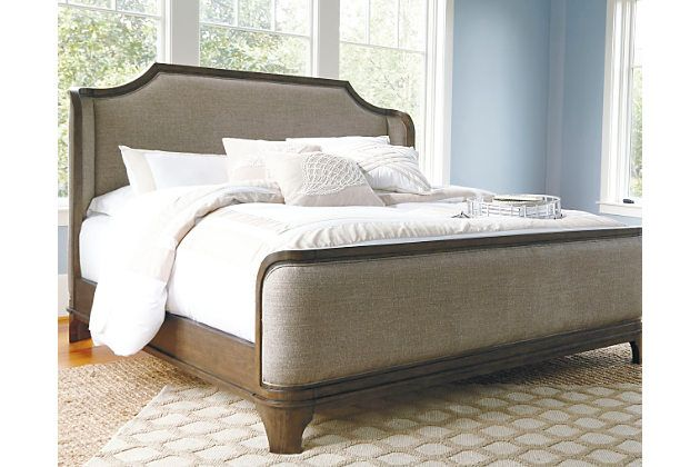 The Larrenton Queen Upholstered Bed Gives New Meaning To Wrapping Yourself In Luxurious Com