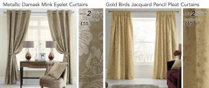 Beautiful gold curtains