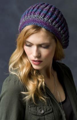 Faux Brioche Beret Knitting Pattern