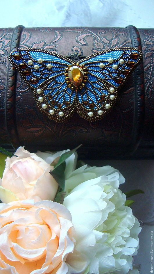 Броши ручной работы. Небесные бабочки. Екатерина Деомидова. Ярмарка Мастеров. Бабочки, живые бабочки, обучение вышивке, кожа натуральная