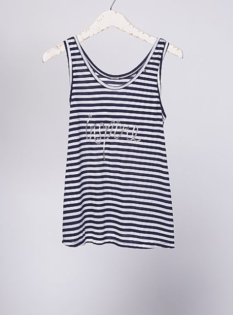 """Simple and easy to wear, the """"Kia"""" singlet. It has scoop neck detailing, silver Buddha feature, A-line cut and three of our unique styles, solid with print, stripes with embroidery and our handmade batik print. Soft and light and so effortless, hard to believe you will want to take it off   AU$49.90  #buddhawear #womensfashion #womenswear #ethicalfashion #summer #SS16"""