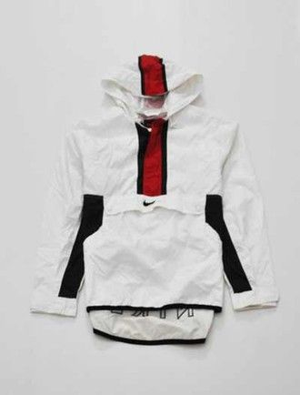 coat menswear mens jacket mens sportswear nike red white windbreaker jacket nike…