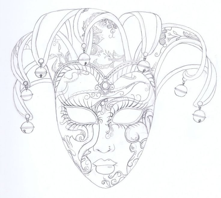 venitian mask drawings | Venetian Mask Illustration | Shelby Welch