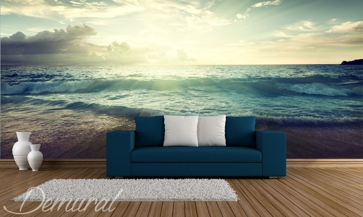 high tide is approaching landscapes wallpaper mural photo wallpapers demural