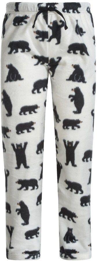 Hatley Little Blue House by Bear Fuzzy Fleece Pajama Pants (For Little Girls)