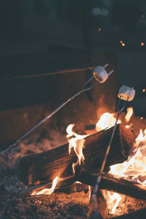 marshmallows | fire | date | date night | warm | fun | camp | camping | friends |