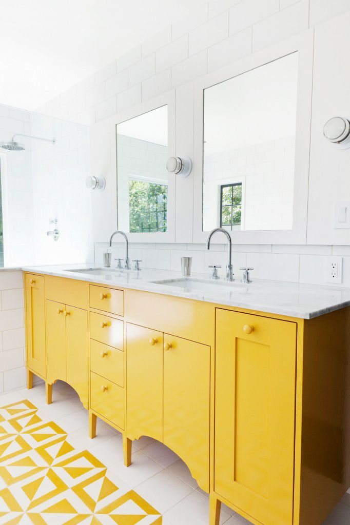 Bright yellow bathroom