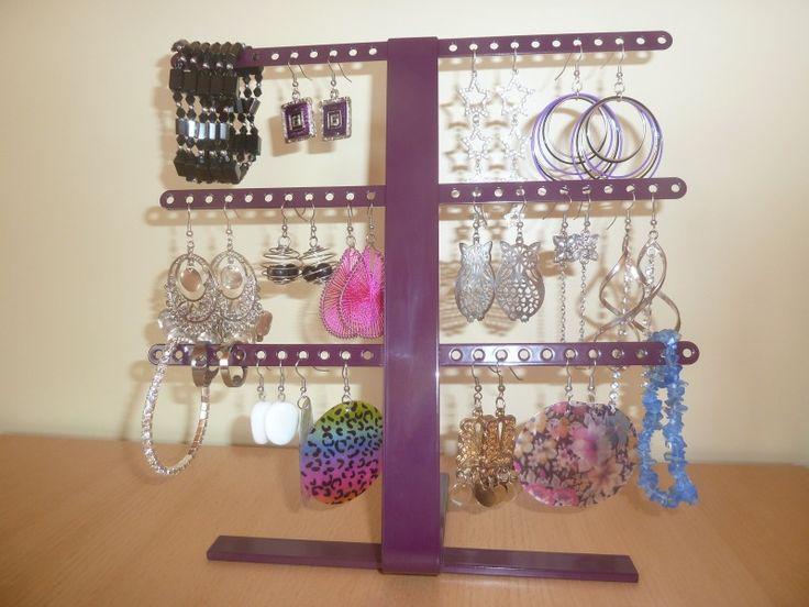 Stojánek na šperky M fialový