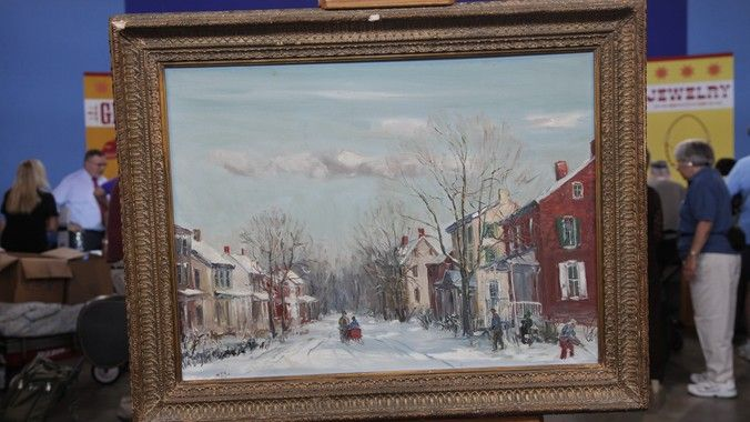 Walter Emerson Baum. 99% sure this is Tylersport. This painting was on Antiques Road show.