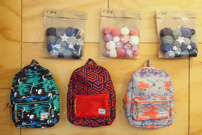 Herschel Backpacks come in a cool array of prints and are ideal 'Back To School' bags for Kinder or Daycare. With 9 litre volume they're the perfect size for a change of clothes, a snack and a drink bottle, plus they're renowned for being hardwearing and come with a Limited Lifetime Warranty. Decorate any munchkin's bedroom with a beautiful handmade Numero 74 Pompom Garland, complete with knotted fabric ties, pompoms and cascading silver stars to invite the sweetest dreams..