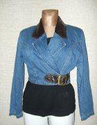 BLUZA JEANSOWA SKÓRA KATANA R 38   Cena: 45,00 zł  #bluza #katana #skora #jeans #okazja