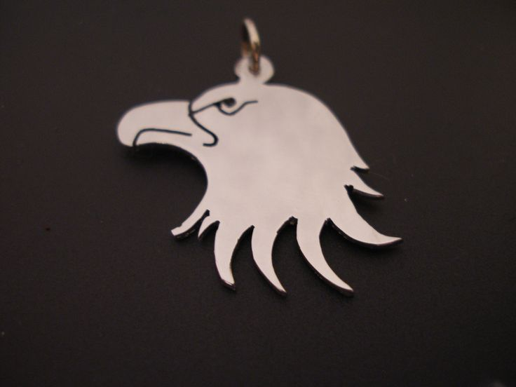 sterling silver american eagle  pendant . 25mm x 20mm handmade 925, £26.99