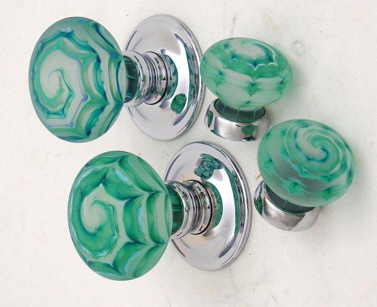 Artisan Glass Knobs Aqua By Merlin Glass Www Merlinglass