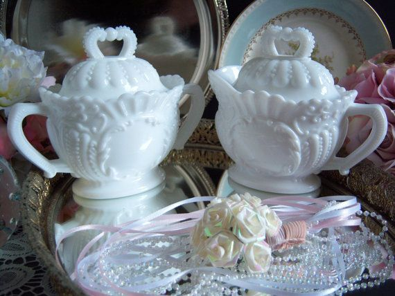 Imperial Glass Milk Glass Sugar Bowl and by RetropolitanHolmes