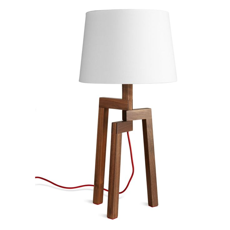 Stilt table lamp walnut