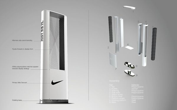Nike Timing Point of Purchase by James G Lee, via Behance