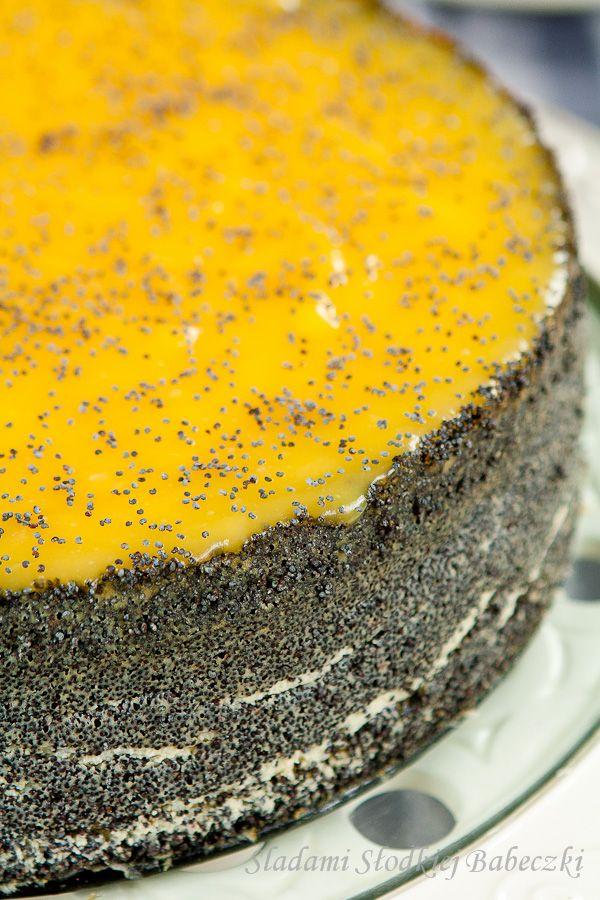 Sernik makowy z lemon curd | Poppy seed cheesecake with lemon curd