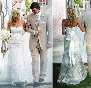 A. I love Eli Manning. B. his wife, and her dress, are absolutely gorgeous