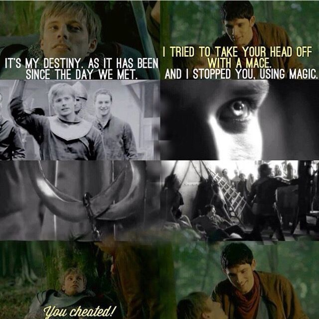 Merlin and Arthur. Merlin Season 5. That's the moment we all bursts into tears! Actually I was crying through this entire episode.