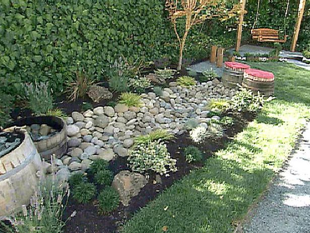 Create a dry river bed. Water Features for Any Budget : Home Improvement : DIY Network
